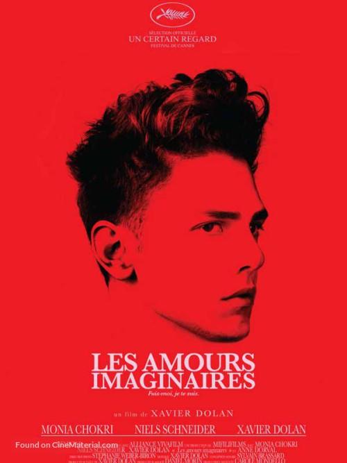 Les amours imaginaires. Québec, 2010. Comédie romantique de Xavier Dolan avec Monia Chokri, Niels Schneider et Xavier Dolan (101 minutes).