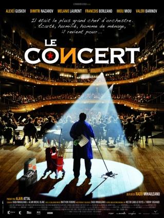Le concert. France-Italie-Roumanie-Belgique, 2010. Comédie dramatique de Radu Mihaileanu avec Alexeï Guskov, Mélanie Laurent et Dmitri Nazarov (123 minutes).