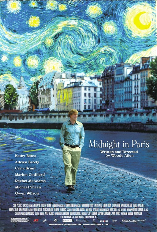 Midnight in Paris (VOSTFR). États-Unis, 2011. Comédie de Woody Allen avec Owen Wilson, Marion Cotillard et Rachel McAdams (94 minutes).