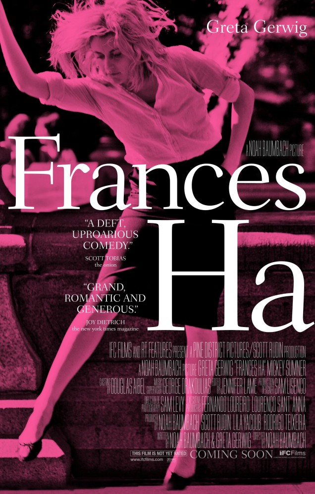 « Frances Ha ». États-Unis. 2012. Comédie dramatique de Noah Baumbach avec Greta Gerwig, Mickey Sumner et Adam Driver. (86 minutes)