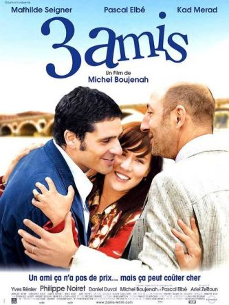 3 amis. France, 2007. Comédie de Michel Boujenah avec Mathilde Seigner, Pascal Elbé et Kad Merad (90 minutes).