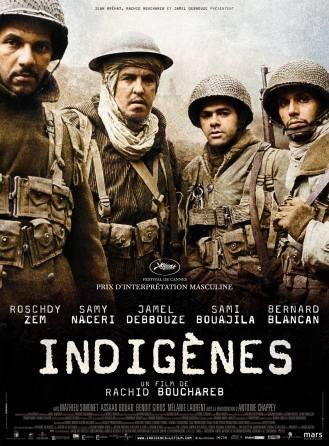 Indigènes. Belgique, France, 2006. Drame de guerre de Rachid Bouchareb avec Jamel Debbouze, Samy Naceri et Roschdy Zem (120 minutes).