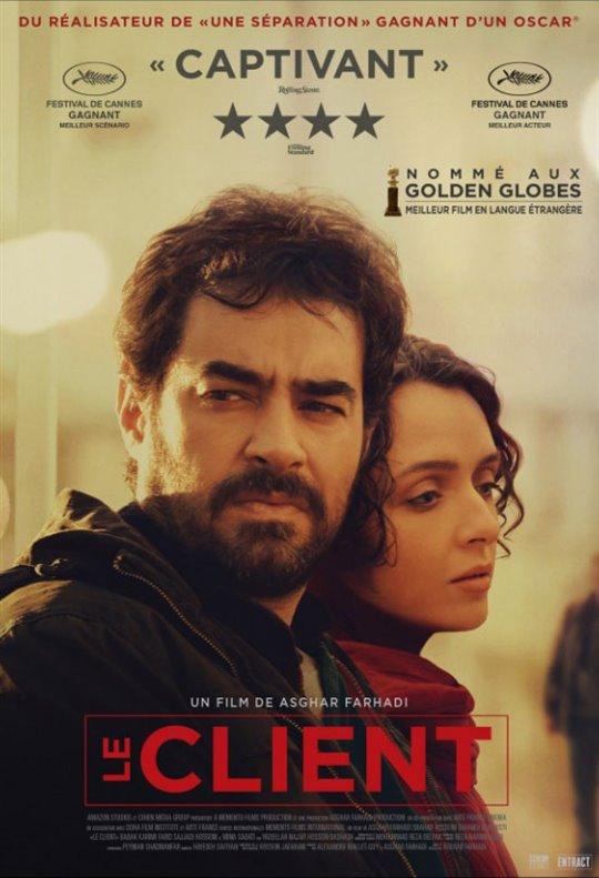 Le client. Iran, France, 2017. Drame d'Asghar Farhadi avec Shahab Hosseini, Taraneh Alidoosti et Babak Karimi (124 minutes).