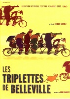 Les triplettes de Belleville. France, 2002. Animation de Sylvain Chomet avec Jean-Claude Donda, Monica Viegas et Michel Robin (80 minutes).