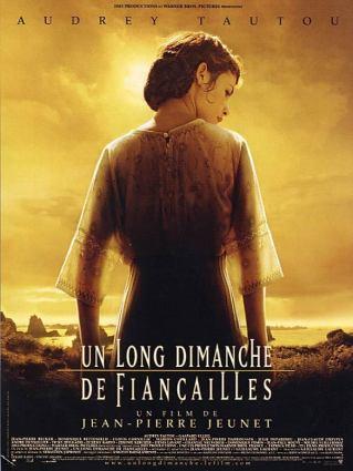 Un long dimanche de fiançailles. France, 2004. Drame de Jean-Pierre Jeunet avec Audrey Tautou, Gaspard Ulliel et Albert Dupontel (133 minutes).