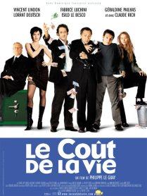 Le coût de la vie. France, 2002. Comédie dramatique de Philippe Le Guay avec Fabrice Luchini, Vincent Lindon et Camille Japy (109 minutes).